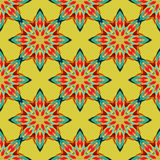 Bezszwowy deseniowy mandala Zdjęcia Stock
