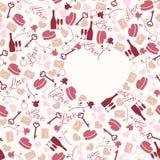 Bezszwowy deseniowy miłość temat Obraz Royalty Free