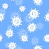 Bezszwowy deseniowy płatka śniegu tło endless royalty ilustracja