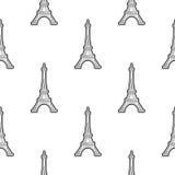 Bezszwowy deseniowy Paryż Fotografia Royalty Free