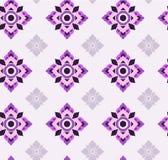 Bezszwowy deseniowy purpurowy Tajlandzki obraz Zdjęcie Royalty Free