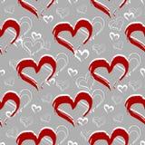 Bezszwowy deseniowy serce Obraz Royalty Free
