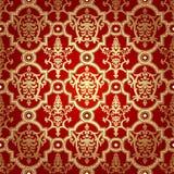 Bezszwowy deseniowy tło. Adamaszkowa tapeta. Fotografia Stock