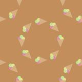 Bezszwowy deseniowy tło lody Lody wektor piłek śmietanki projekta elementu lodu ilustracja Zdjęcie Royalty Free