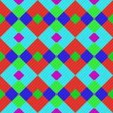 Bezszwowy deseniowy tło od różnorodność stubarwnych kwadratów royalty ilustracja