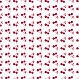 Bezszwowy deseniowy tło w wiśni Zdjęcie Royalty Free