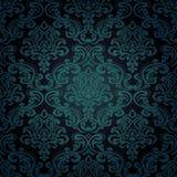 Bezszwowy deseniowy tło. Adamaszkowa tapeta. Zdjęcia Royalty Free