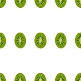 Bezszwowy deseniowy tło kiwi Obraz Stock