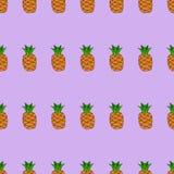 Bezszwowy deseniowy tło z ananasem Obraz Stock