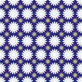 Bezszwowy deseniowy tło z cornflowers i chamomiles, kolorowa ilustracja ilustracji
