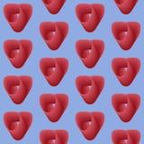 Bezszwowy deseniowy tło z sercami, kolorowa ilustracja ilustracja wektor