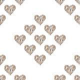 Bezszwowy deseniowy tła serce Fotografia Royalty Free