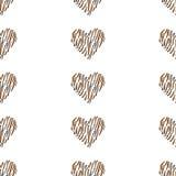 Bezszwowy deseniowy tła serce Obrazy Royalty Free
