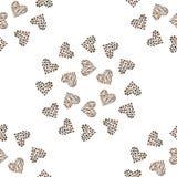 Bezszwowy deseniowy tła serce Obraz Royalty Free