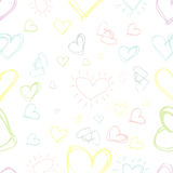 Bezszwowy deseniowy tła serce Wektorowa tapeta Obraz Royalty Free