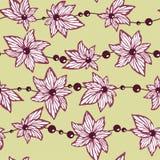 Bezszwowy deseniowy wektor dla tapety i tkaniny tkaniny z ab Obrazy Royalty Free