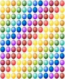 Bezszwowy Deseniowy Wielkanocnych jajek koloru widma tło Zdjęcie Stock