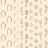 Bezszwowy Deseniowych odcisków stopy tło Obraz Royalty Free