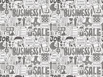 Bezszwowy doodle biznesu wzór Zdjęcie Royalty Free