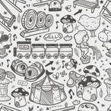 Bezszwowy doodle boiska wzór ilustracji