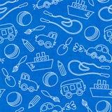Bezszwowy doodle dzieci zabawek wzór Obrazy Stock