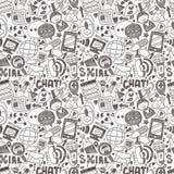 bezszwowy doodle komunikacyjny wzór royalty ilustracja