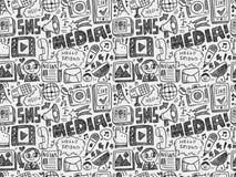 bezszwowy doodle komunikacyjny wzór Zdjęcie Royalty Free