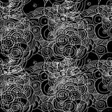 Bezszwowy doodle okregów wzór Zdjęcia Stock