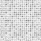 Bezszwowy doodle podróży wzór Zdjęcia Stock