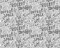 Bezszwowy doodle przestrzeni wzór Zdjęcia Stock