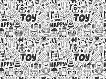 Bezszwowy doodle zabawki wzór Obrazy Stock