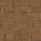 Bezszwowy drewniany parkietowy tekstura szachy jasnobrązowy Zdjęcia Royalty Free