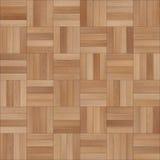 Bezszwowy drewniany parkietowy tekstura szachy jasnobrązowy Obraz Stock