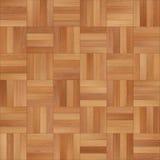 Bezszwowy drewniany parkietowy tekstura szachy jasnobrązowy Obrazy Stock