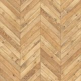 Bezszwowy drewniany parkietowy tekstura szewron jasnobrązowy Obraz Stock