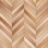 Bezszwowy drewniany parkietowy tekstura szewron jasnobrązowy Obraz Royalty Free