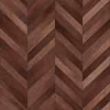 Bezszwowy drewniany parkietowy tekstura szewronu brąz Obraz Stock