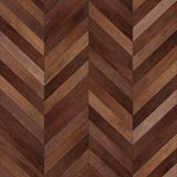 Bezszwowy drewniany parkietowy tekstura szewronu brąz Obrazy Royalty Free