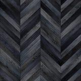 Bezszwowy drewniany parkietowy tekstura szewronu zmrok Zdjęcia Royalty Free