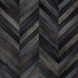 Bezszwowy drewniany parkietowy tekstura szewronu zmrok Fotografia Stock