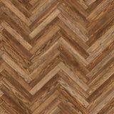 Bezszwowy drewniany parkietowy tekstury herringbone brąz Obraz Stock