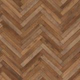 Bezszwowy drewniany parkietowy tekstury herringbone brąz Fotografia Stock