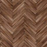 Bezszwowy drewniany parkietowy tekstury herringbone brąz Obraz Royalty Free
