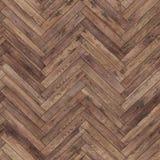 Bezszwowy drewniany parkietowy tekstury herringbone brąz Obrazy Stock