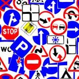 Bezszwowy drogowego znaka wzór obrazy royalty free