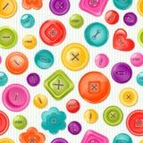 Bezszwowy druk z kolorowymi guzikami wektor Zdjęcie Stock