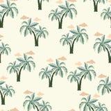 Bezszwowy drzewko palmowe wzór Obrazy Stock