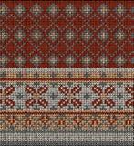 Bezszwowy dzianina puloweru wzór Zdjęcia Stock