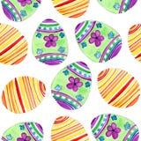 Akwarela wzór z jajkami Zdjęcia Royalty Free
