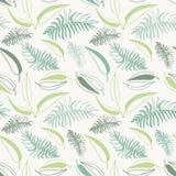 Bezszwowy elegancki tropikalny liścia wzór abstrakcjonistyczny kwiecisty deseniowy bezszwowy royalty ilustracja